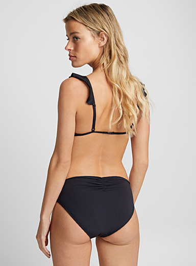 Ruched high-waist bottom