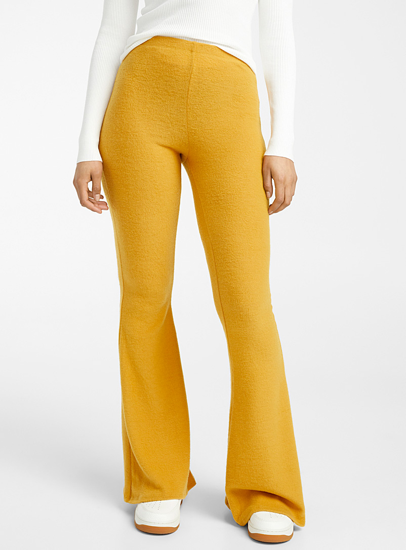Twik Medium Yellow Soft jersey flared legging for women