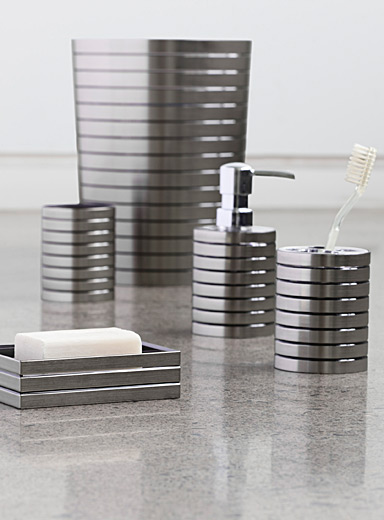 Simons Maison Grey Brushed faux-metal accessories