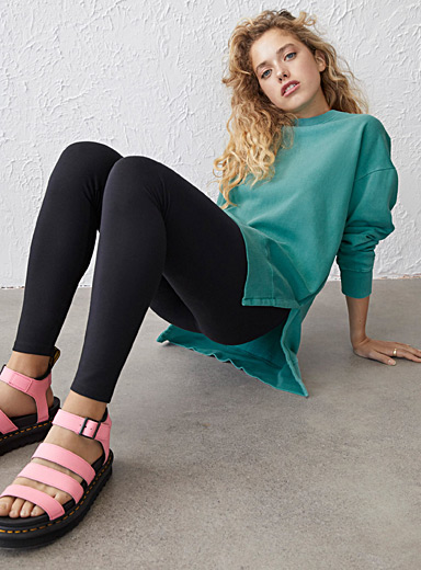 High-rise structured jersey legging