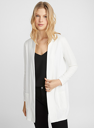 Le long cardigan sweat ouvert
