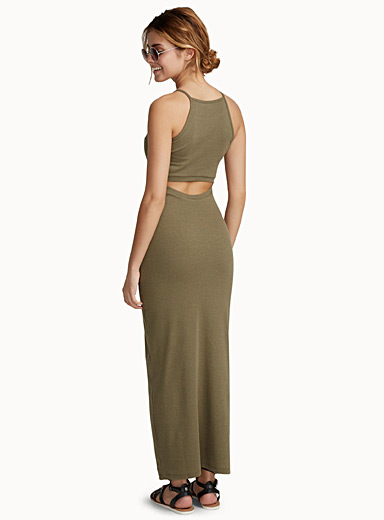 Mini-ribbed maxi dress