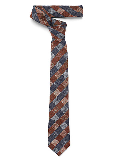 Chambray checkerboard tie