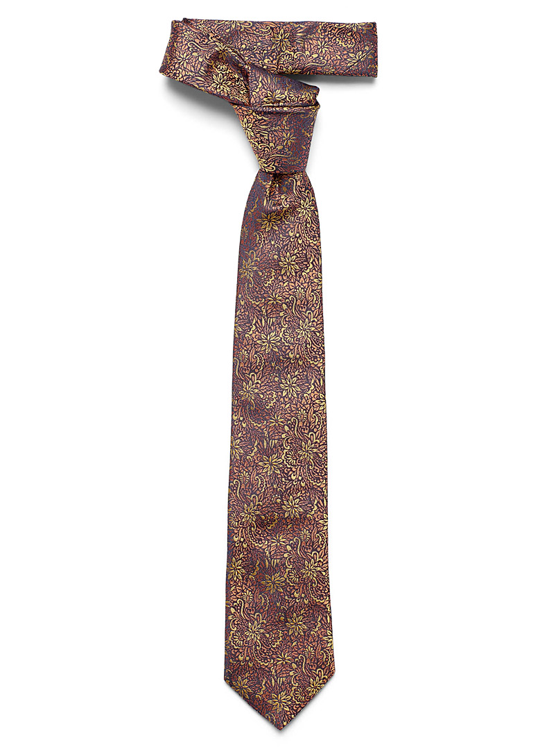 Le 31 Copper Copper blossom tie for men