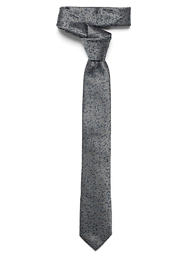 Le 31 Grey Urban flower tie for men