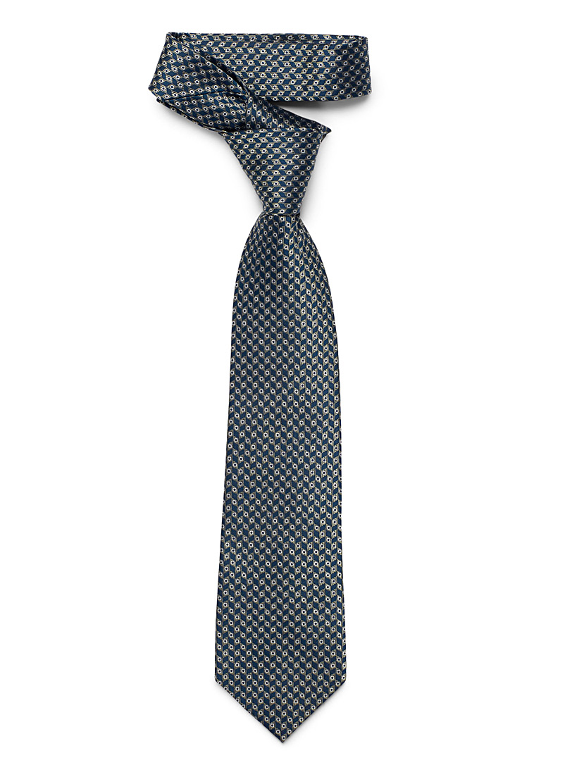 Geometric pattern tie - Regular Ties - Marine Blue