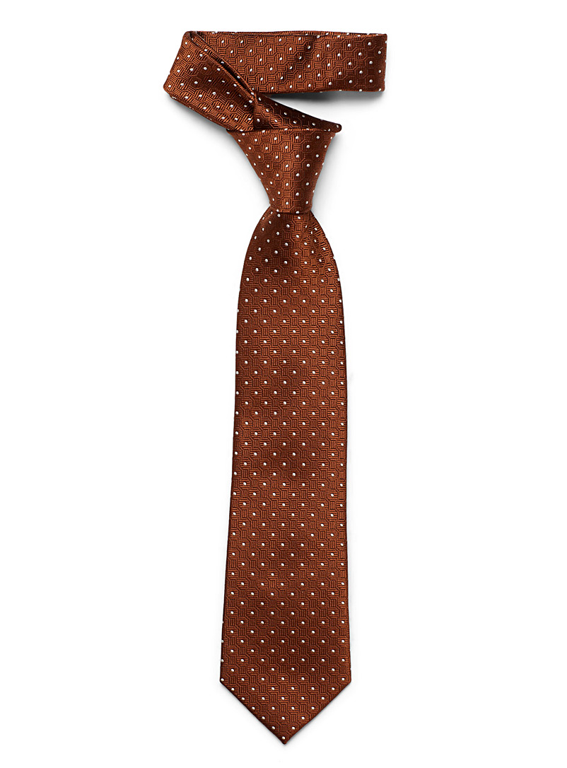 Le 31 Copper Geometric dot tie for men