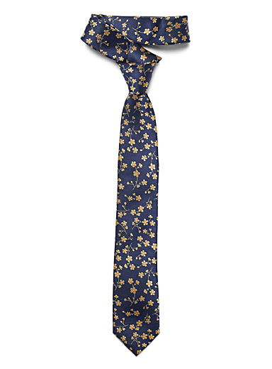 Mini yellow flower tie