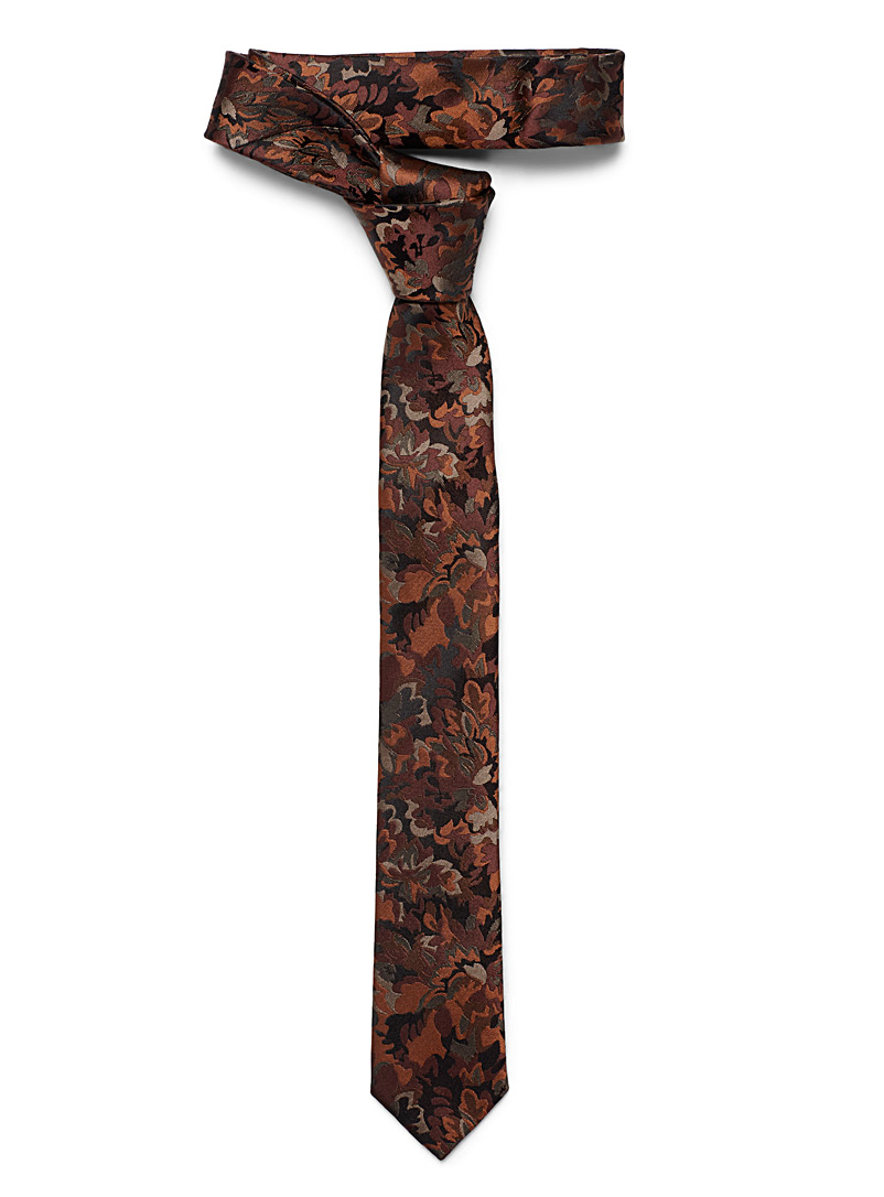 Le 31 Sapphire Blue Camouflage foliage tie for men