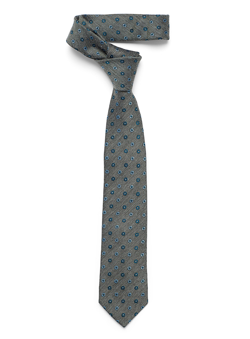Le 31 Oxford Two-tone floral tie for men