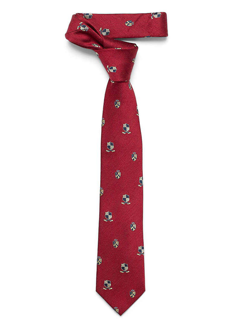 Le 31 Ruby Red Crests tie for men
