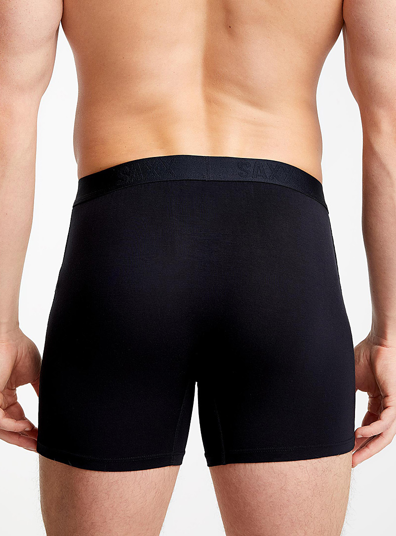 Topstitch ergonomic boxer brief - Boxer briefs - Patterned Black