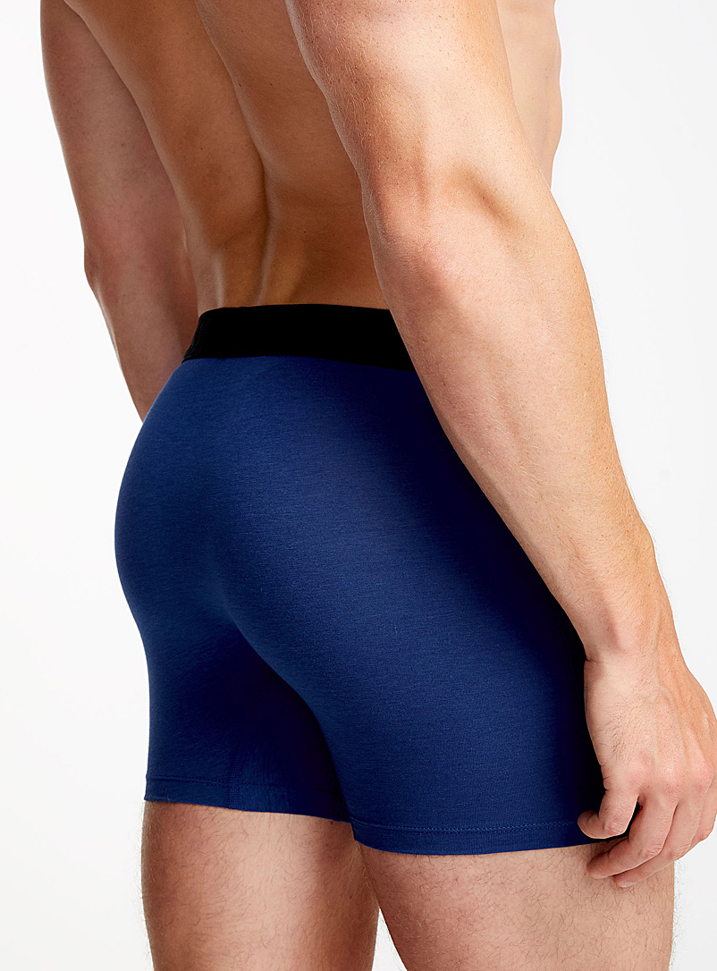 Ultra comfortable solid boxer brief - Canadian Brands - Sapphire Blue