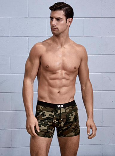 Woodland camo boxer brief