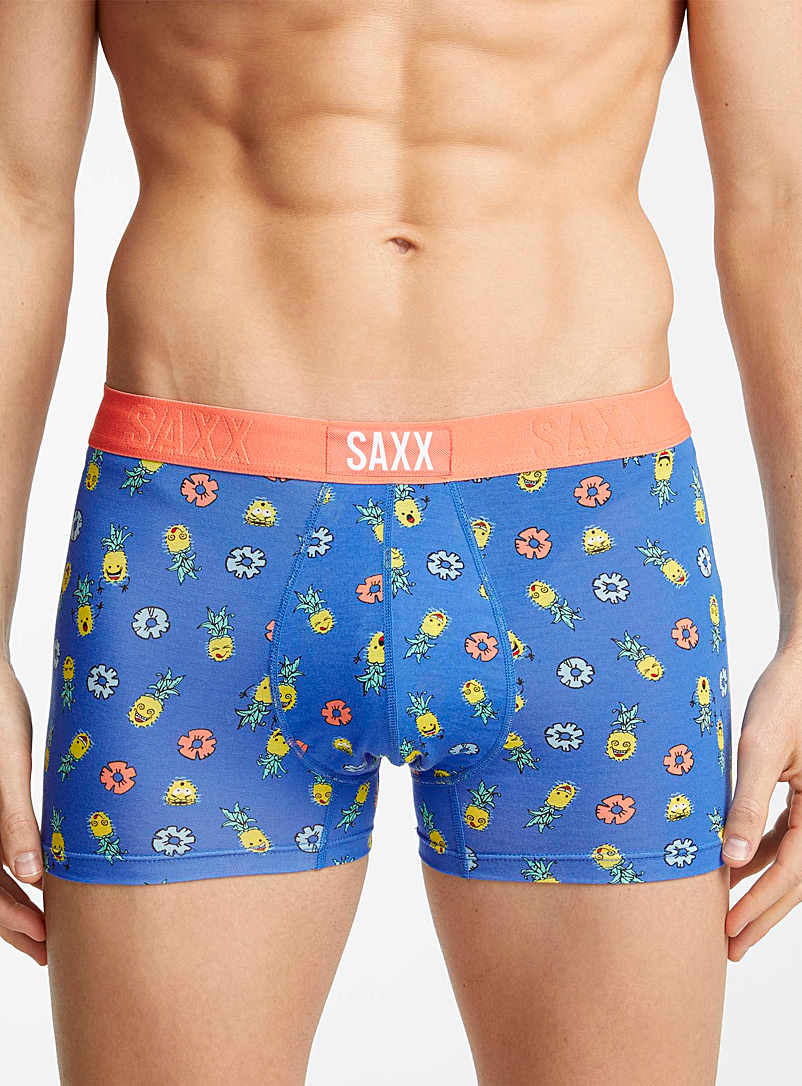 Saxx Patterned Blue Fun pineapple trunk for men