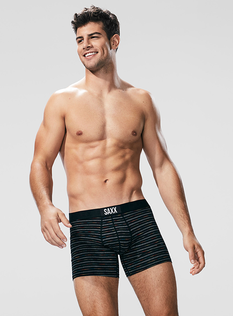 Vibe Gradient Stripes boxer brief - Canadian Brands - Black