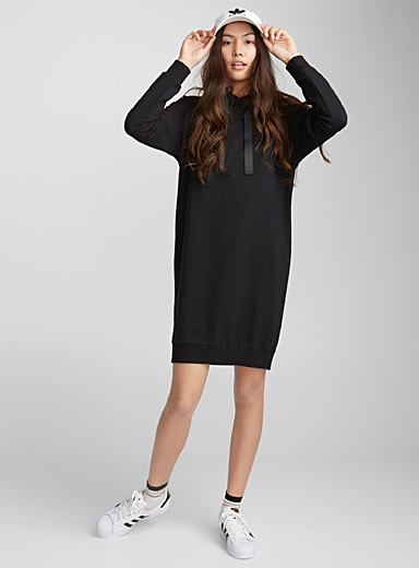 Grosgrain ribbon sweat dress