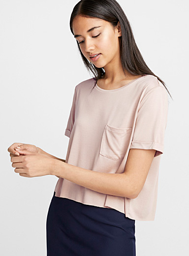 Cropped modal tee