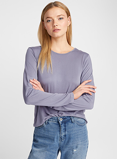 Long-sleeve modal tee