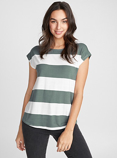 Graphic stripe boxy tee