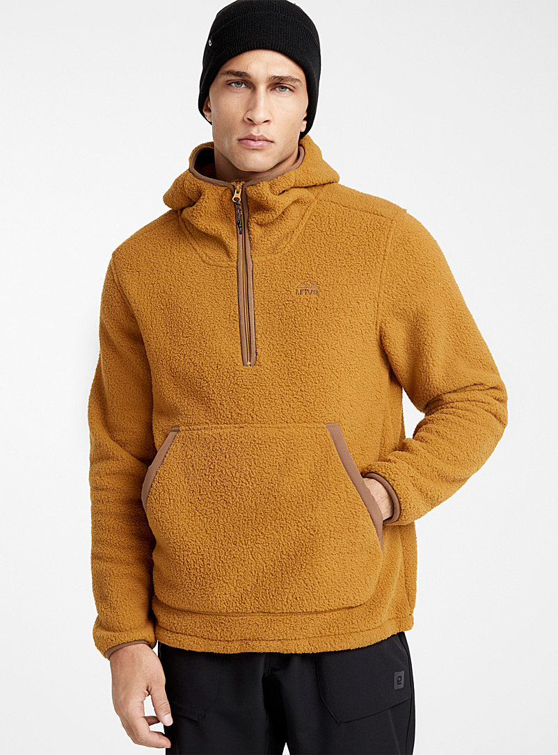 I.FIV5 Fawn Recycled sherpa hoodie for men