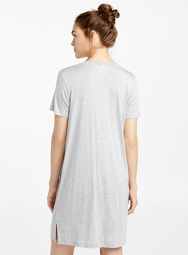 Typographic nightgown - Nighties & Sleepshirts - Light Grey