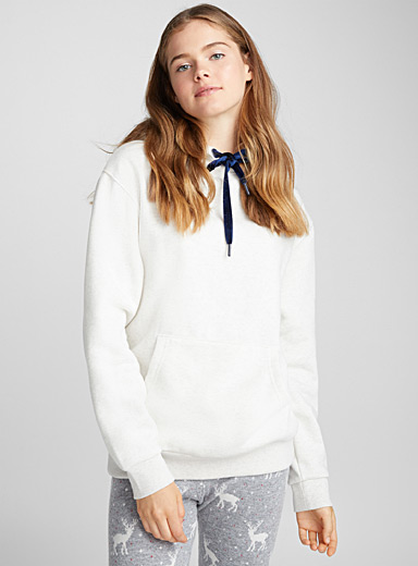 Touch of velvet hooded sweatshirt