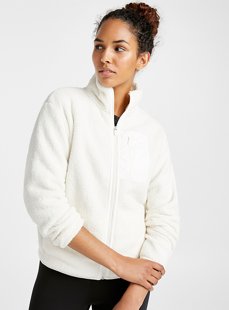 Sherpa zip jacket - Jackets - Ivory White