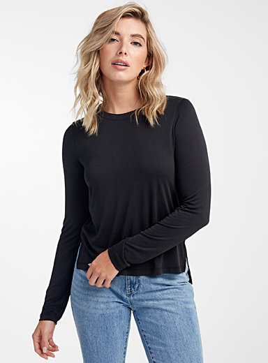 Long-sleeve TENCEL modal tee