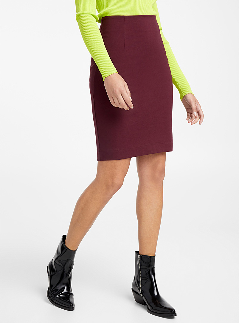 Structured jersey pencil skirt - Midi