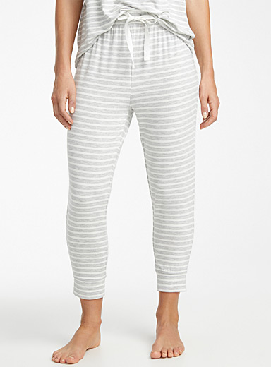 Sailor-stripe modal joggers