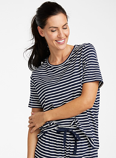 Sailor-stripe modal tee