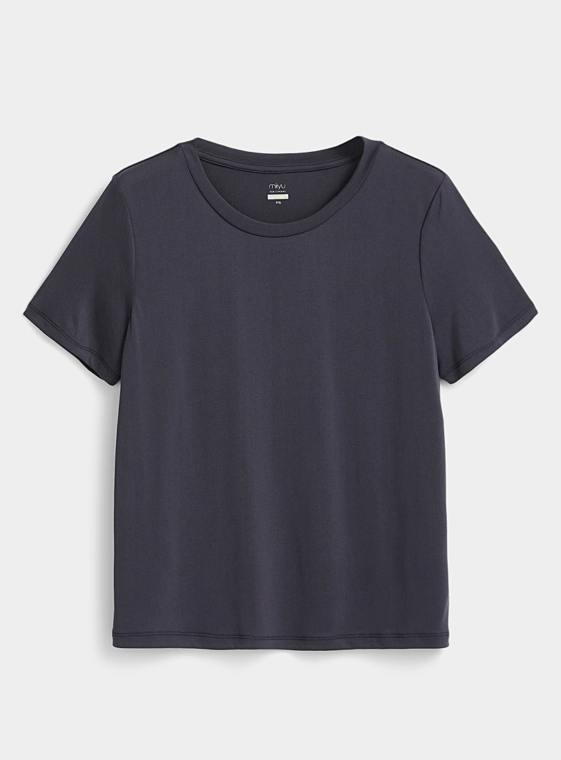 Miiyu Charcoal Essential modal tee for women