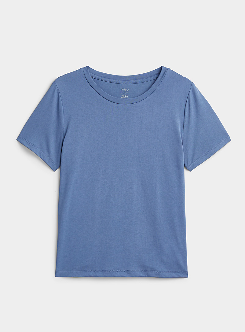Miiyu Slate Blue Essential modal tee for women