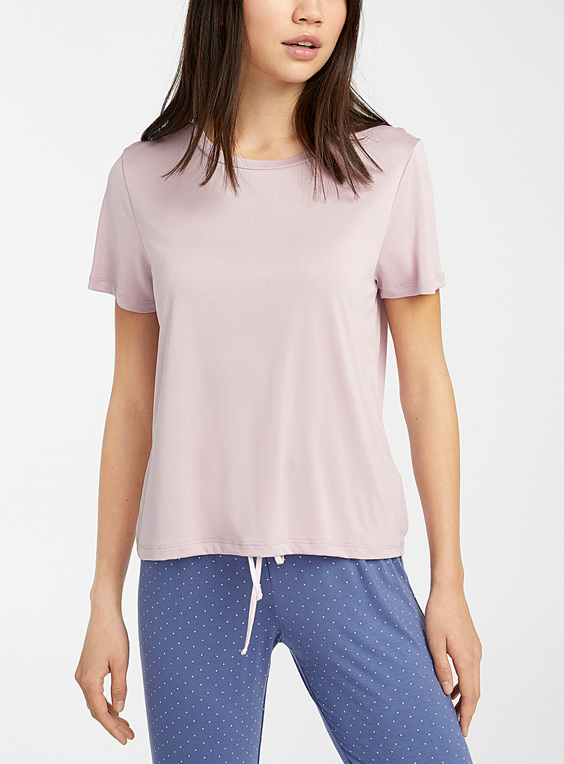 Miiyu Medium Pink Essential modal tee for women