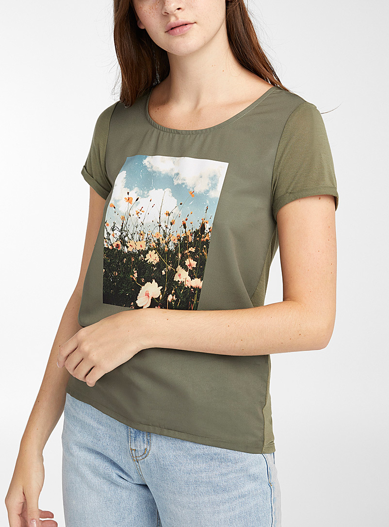 Twik White Photo print tee for women