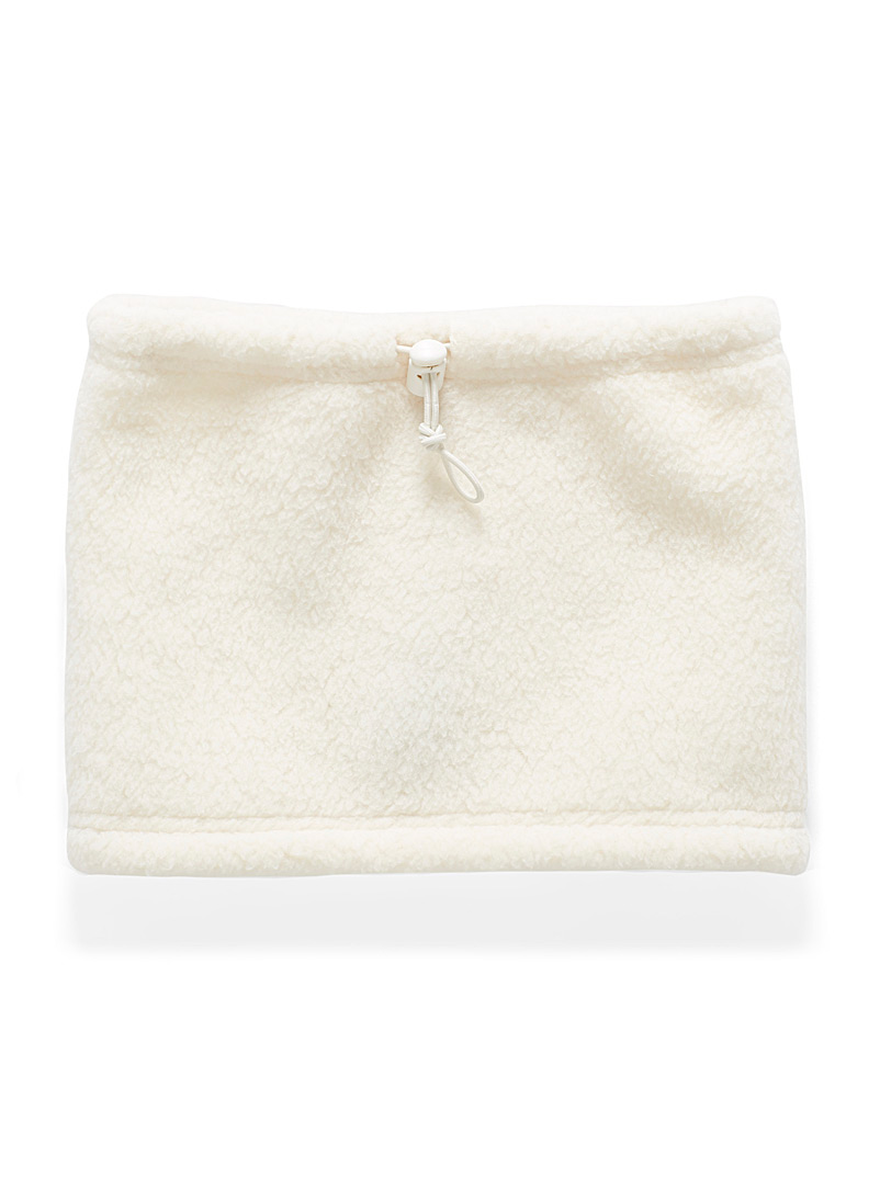 I.FIV5 Ivory White Toggle sherpa snood for women