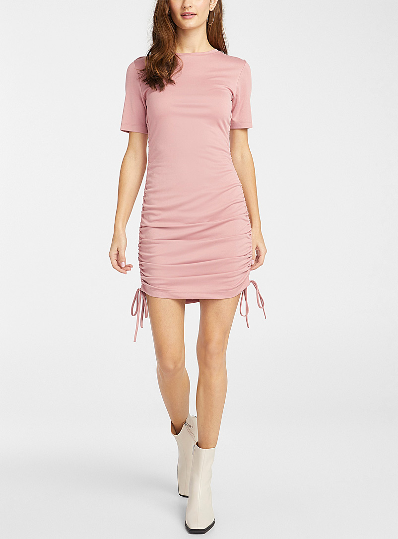 Icône Pink TENCEL* Modal ruched-side dress for women