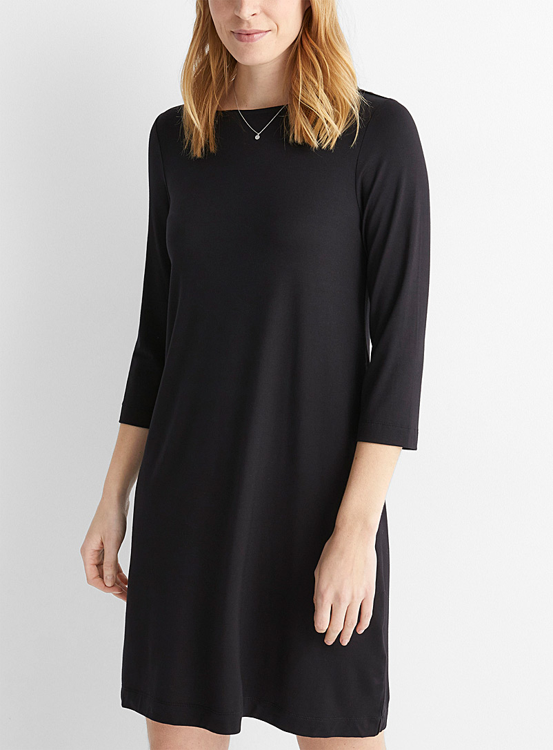 Fluid jersey straight dress