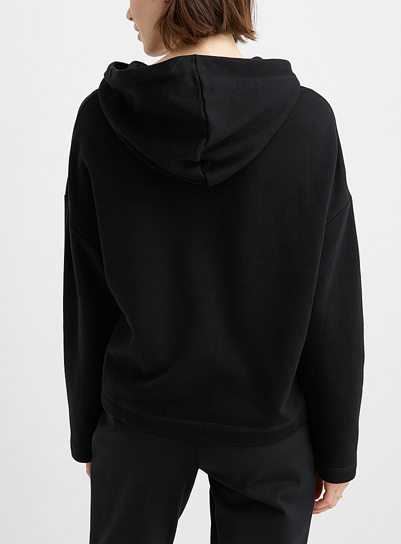Contemporaine Patterned Black Artistic beauty hoodie for women