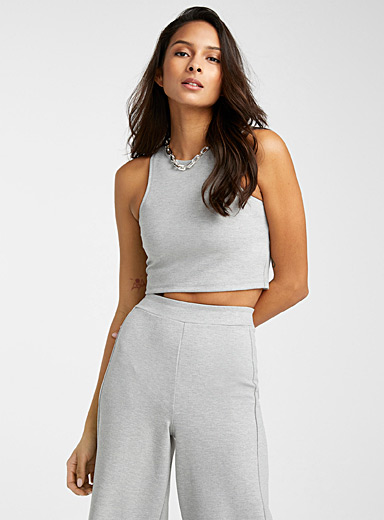 Ponte cropped camisole