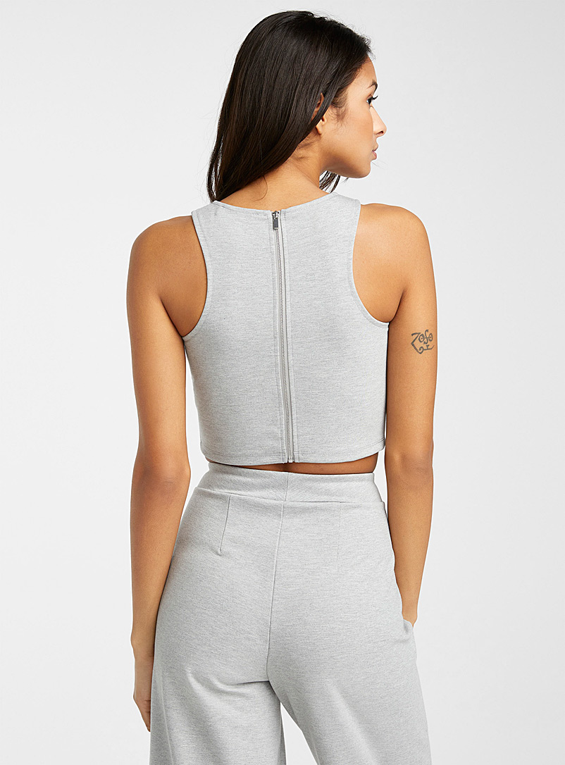 Icône Grey Ponte cropped camisole for women