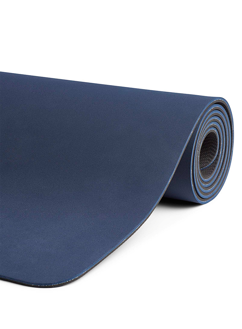 I.FIV5 Marine Blue Yoga mat with carrying strap for women