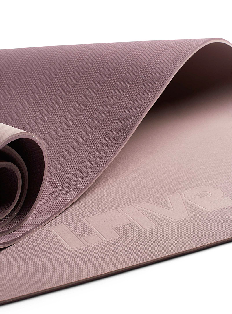 I.FIV5 Dusky Pink Yoga mat with carrying strap for women