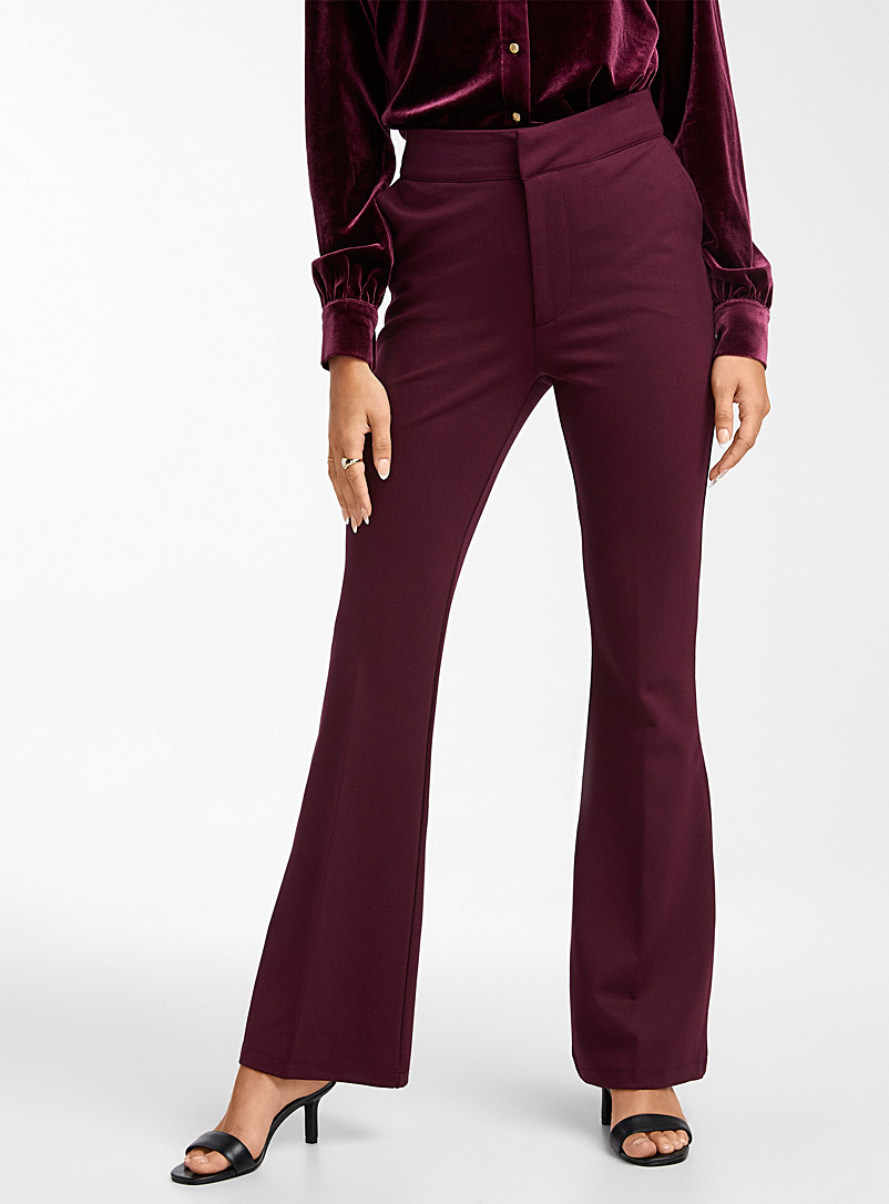 Icône Black Flared structured jersey pant for women
