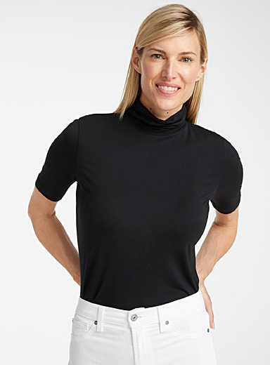 Modal turtleneck t-shirt