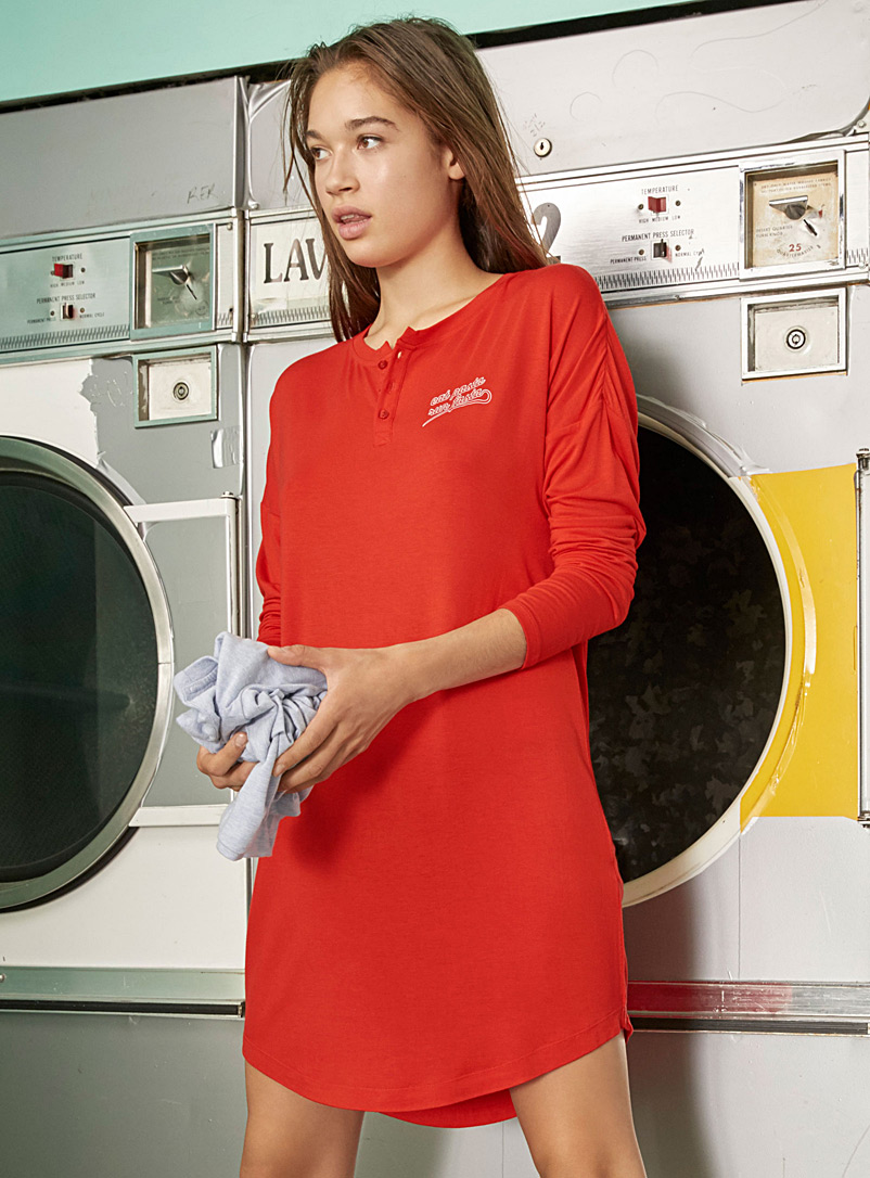Foodie message nightgown - Nighties & Sleepshirts - Red