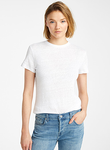 Le t-shirt lin col rond