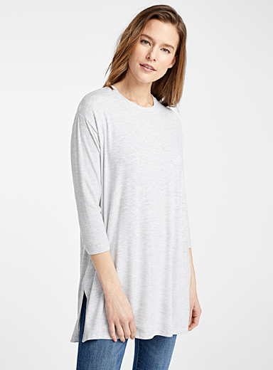 Contemporaine Grey Loose TENCEL* Modal tunic for women