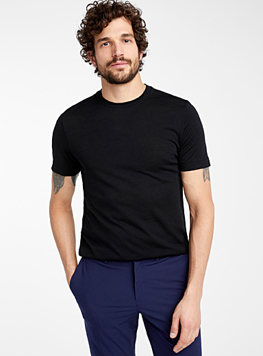 Pure merino wool short-sleeve T-shirt